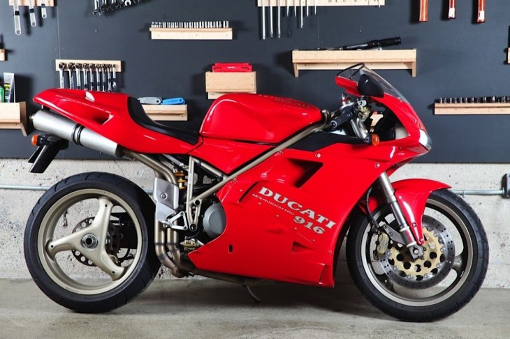 Featured Listing:  Highly Original 1995 Ducati 916 available in San Francisco