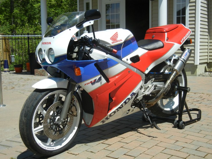 Red, White, and Blue:  1989 Honda VFR400R NC30 available in New York