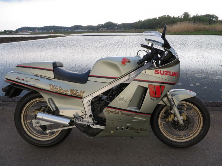 1987 Suzuki RG400 Walter Wolf Silver For Sale