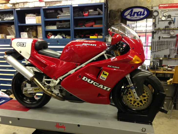 1991 Ducati 851 SP3 with under 300 Miles!