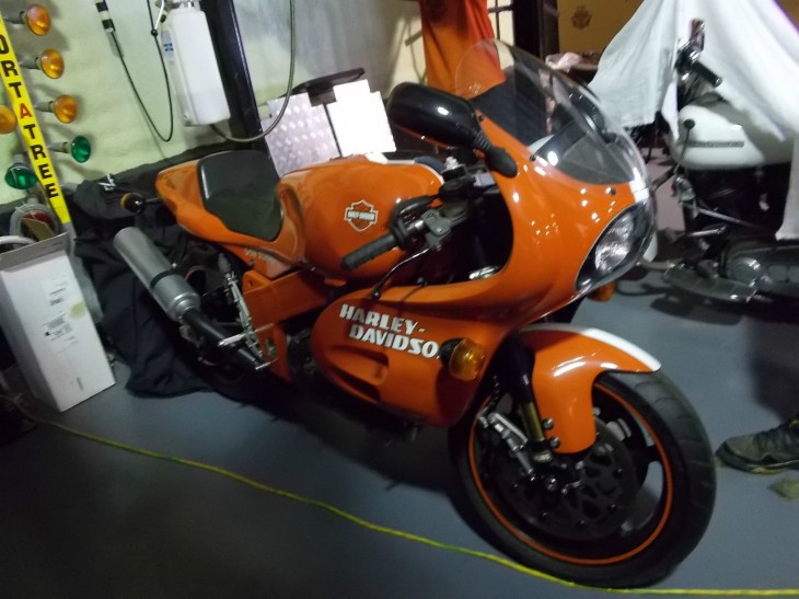 Orange & Black Attack! 1994 Harley Davidson VR1000