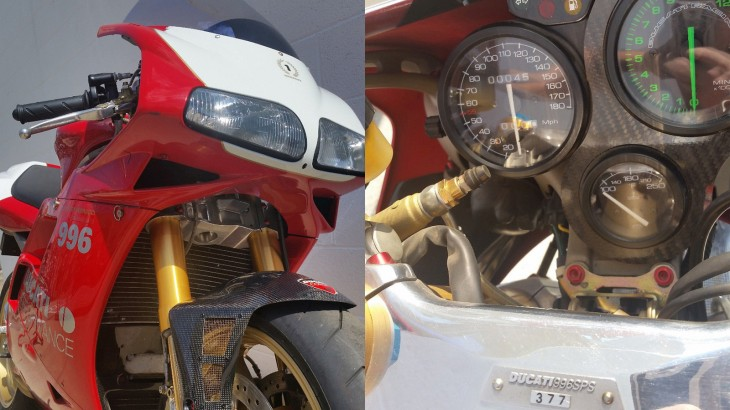 1999 Ducati 996SPS Front and Dash