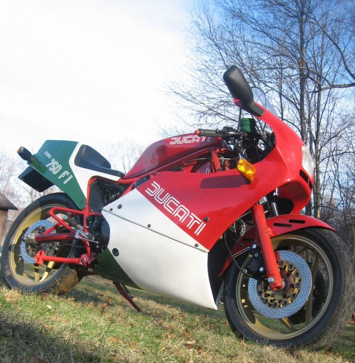 A shot at the title: 1985 Ducati 750 F1
