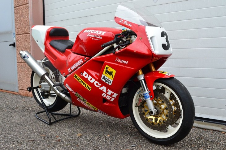 1989 Ducati 851 Race Bike R Side Front