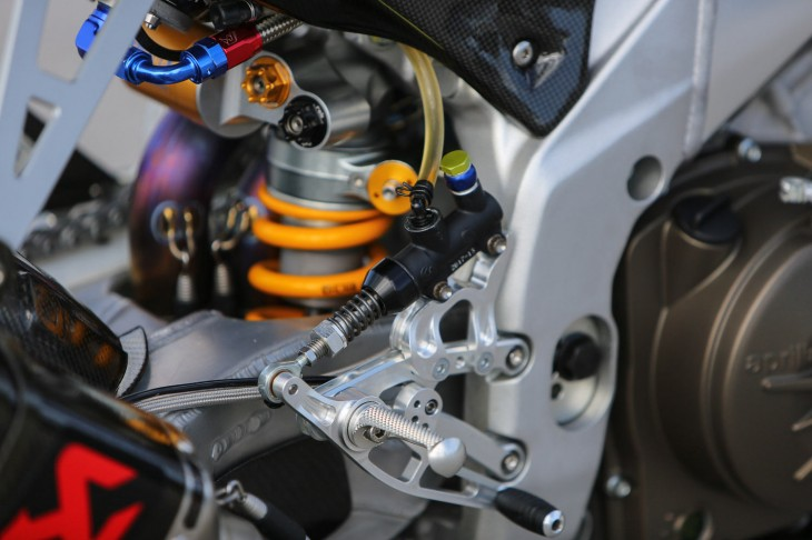 2013 Aprilia RSV4 Factory SBK Rear Suspension Detail