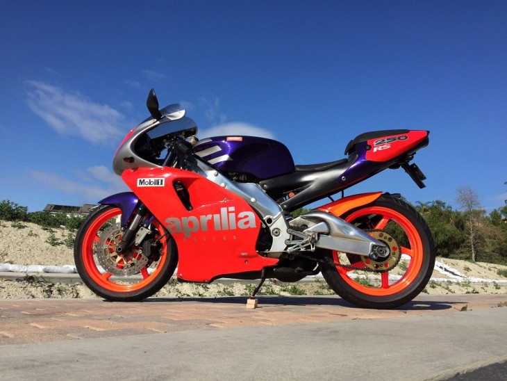 Road or Track: 1995 Aprilia RS250 with Clear Cali Title