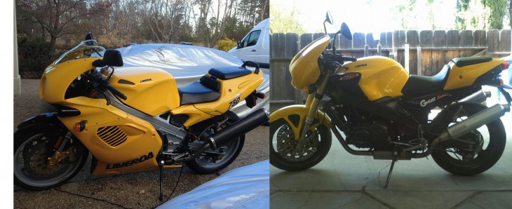 Pair of Zané Laverdas for Sale: 1999 750S and 1998 Laverda Ghost Strike