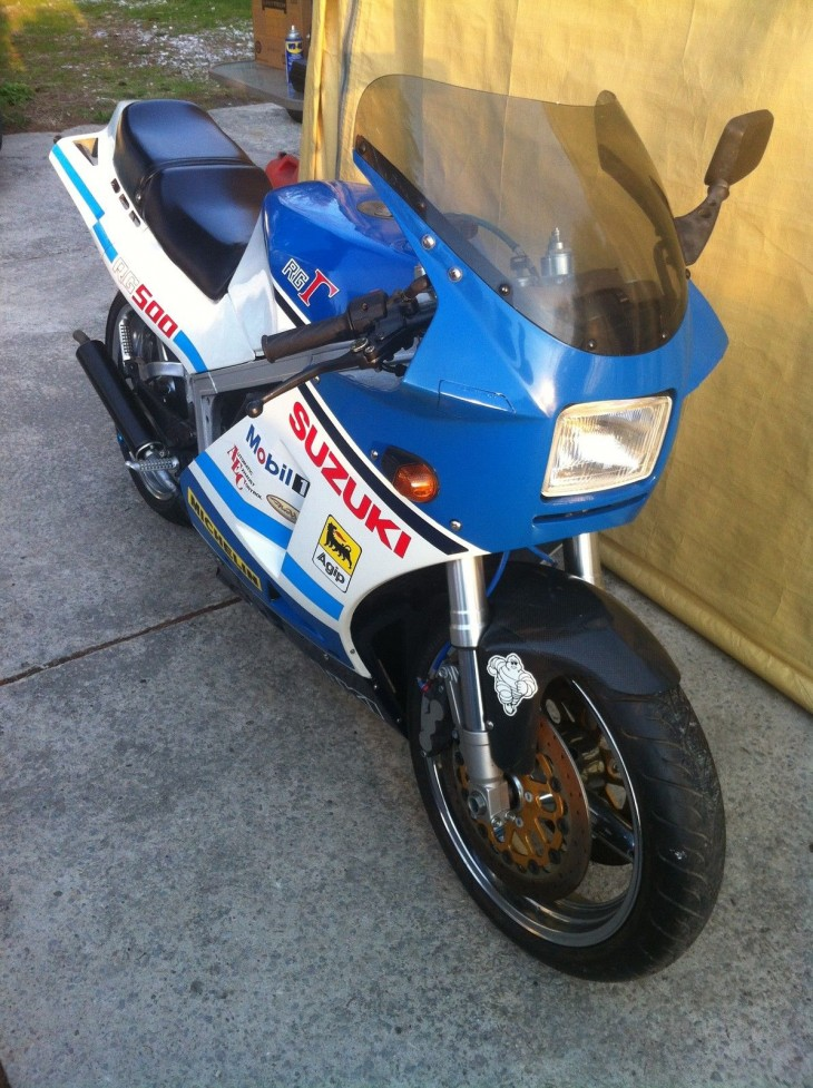 Blue Smoke – 1986 Suzuki RG500 on eBay in Canada