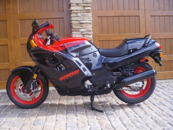 One Owner 1988 Honda CBR1000 Hurricane with less than 4500 Miles!