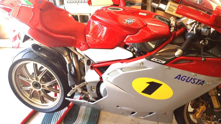 nearly new 2005 mv agusta f4 1000 ago for sale with 40. Black Bedroom Furniture Sets. Home Design Ideas