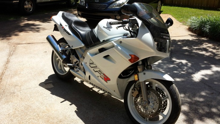 I want it:  1993 Honda VFR Interceptor in White with only 9300 miles!