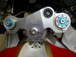 20150825 2006 bimota sb8k santamonica triple clamp detail