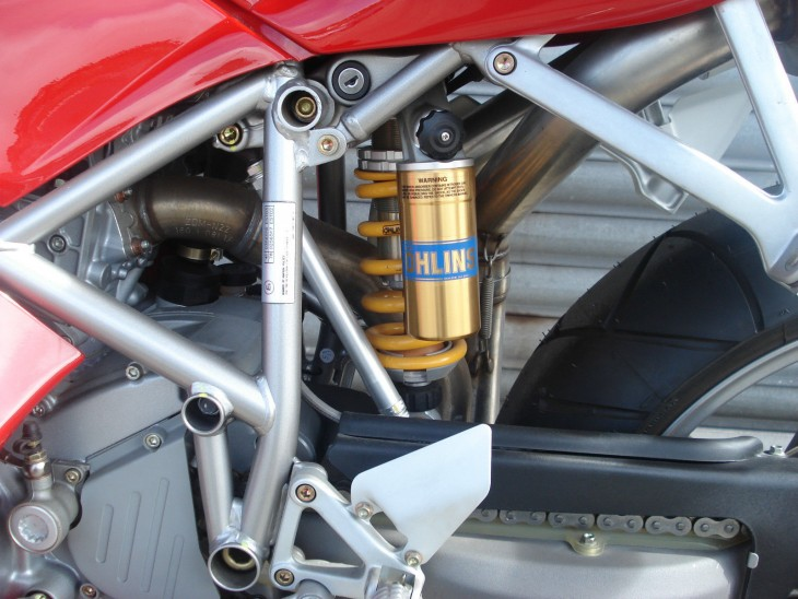 200150923 2004 ducati 998s final edition right shock detail