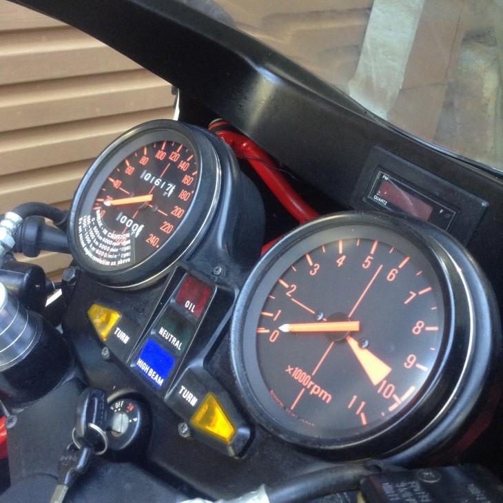 1980 Honda CB1100R Gauges