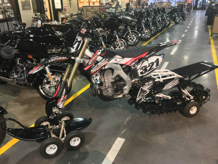 20160123 2013 honda crf450 timbersled sx120 left