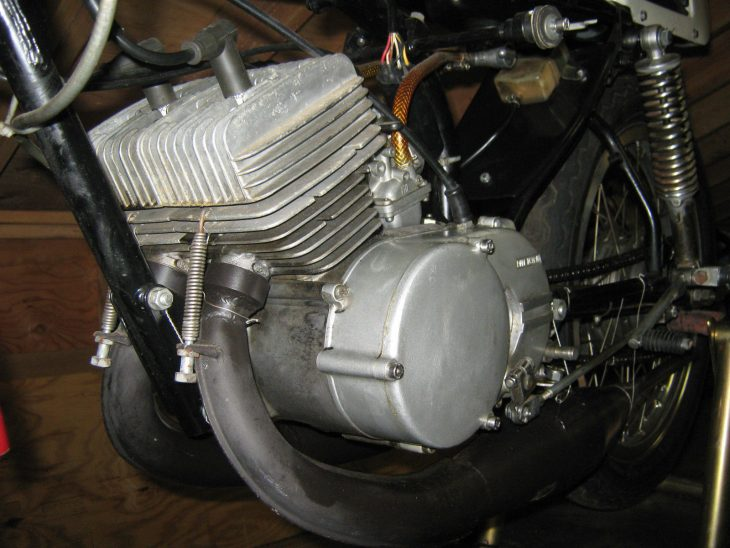 1974 Yamaha TA125 L Side Engine