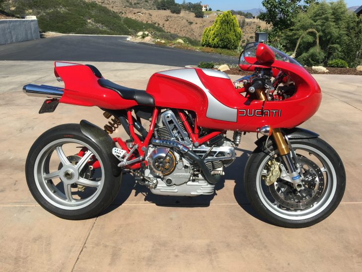 Terrific, Tiny-Tanked Terblanche TT Tribute: 2001 Ducati MH900e for Sale
