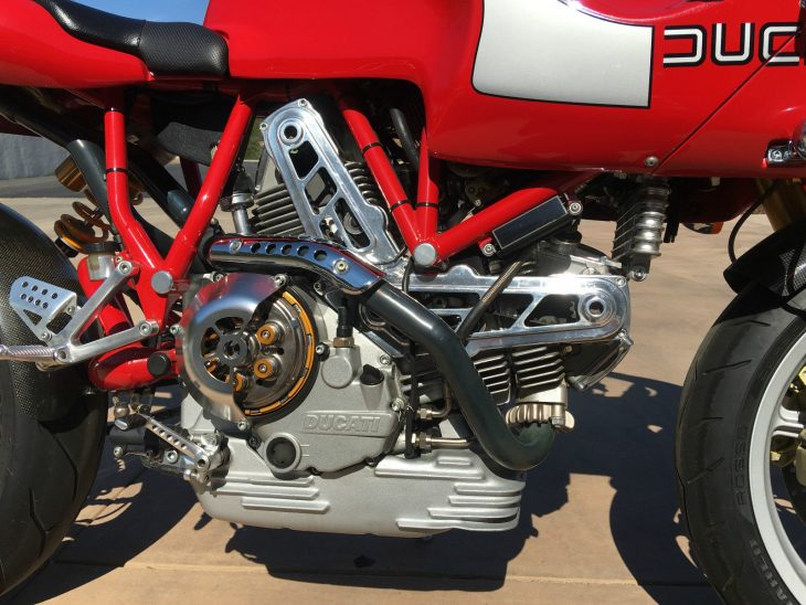 2001 Ducati MH900e R Side Engine