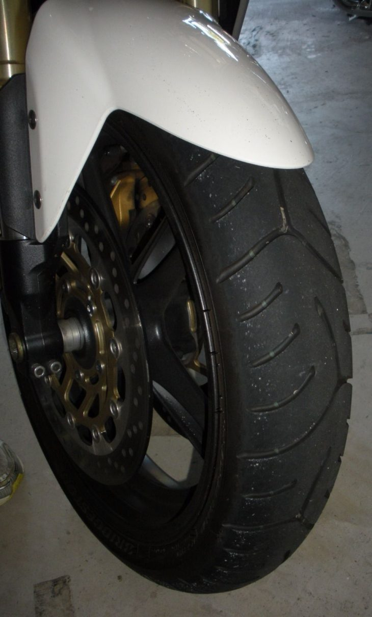 20160611 2006 triumph speed triple right front wheel