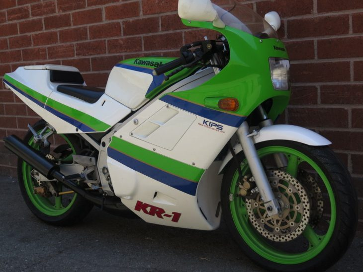 Rare Team Green Two-Stroke: 1988 Kawasaki KR-1 for Sale