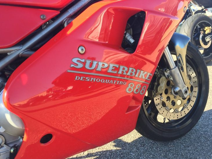 851 with extra grunt:  1993 Ducati 888 SPO