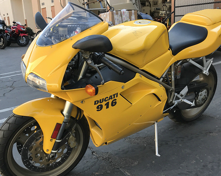 Nearly New: 1998 Ducati 916 With Just 245 Miles for Sale