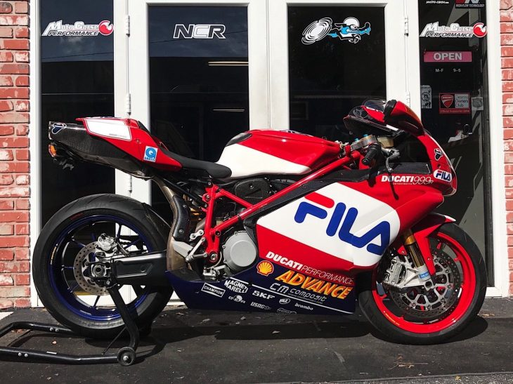 Lust AND trust:  2004 Ducati 999R FILA edition in Florida USA