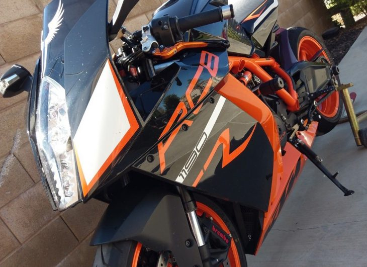 Just in Time for Halloween: 2012 KTM RC8R for Sale