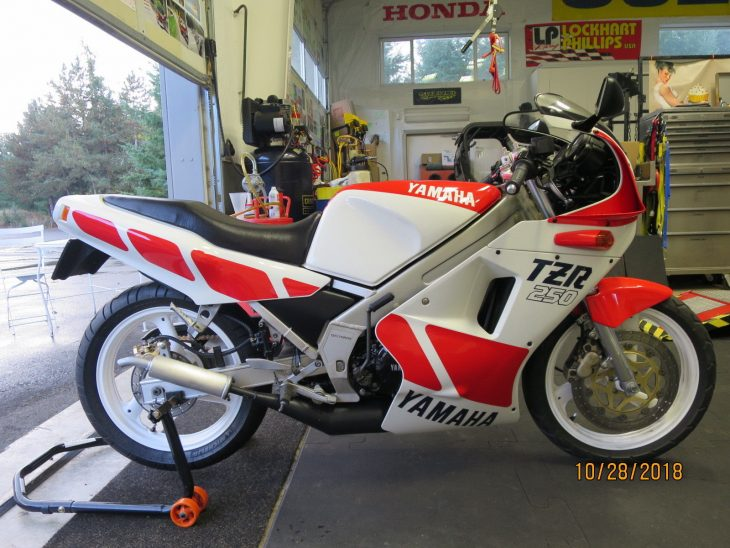 Un-mothballed – 1988 Yamaha TZR250