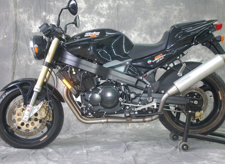 Bet on Black: 1998 Laverda Black Strike Cafe Racer for Sale