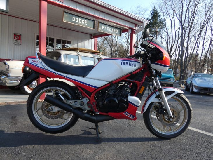 Red, White and Blue (smoke): 1984 Yamaha RZ350