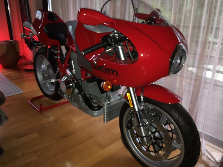 Featured Listing:  2001 Parking Space Odyssey – NEW 2001 Ducati MH900e
