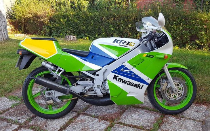 Lean and Green: 1990 Kawasaki KR-1S for Sale