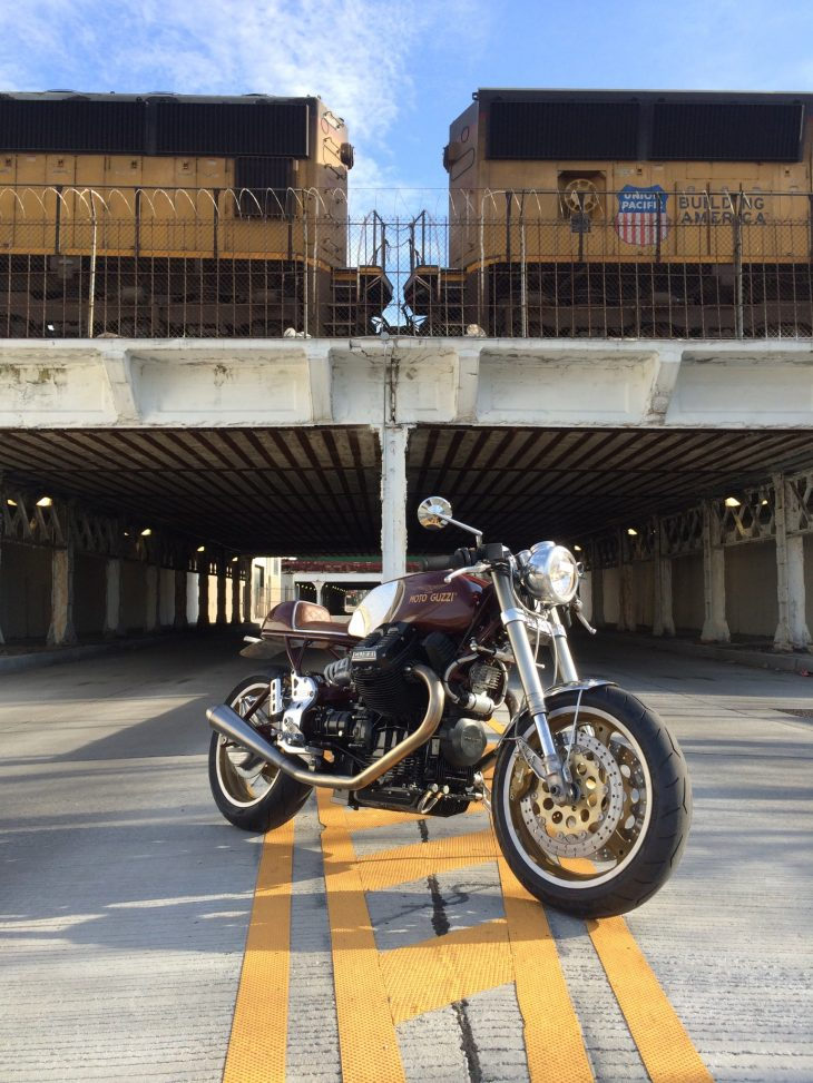 Featured Listing: Wild custom 1997 Moto Guzzi Centauro