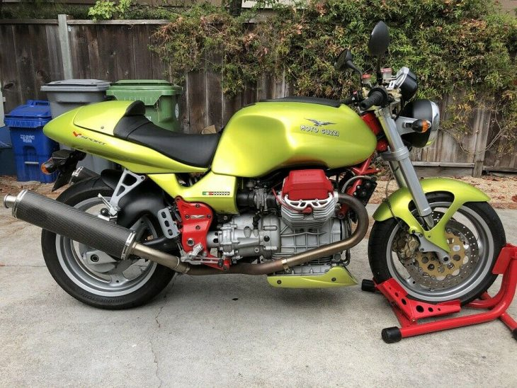 Mean Green Machine:  2001 Moto Guzzi V11 Sport