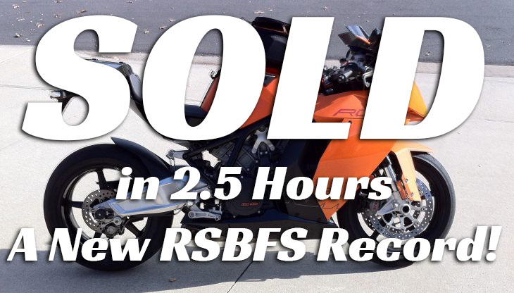 Featured Listing – 2008 KTM RC8 with under 6,900 miles !