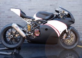 Featured Listing: Air-cooled Ducati 749 hot rod superbike!