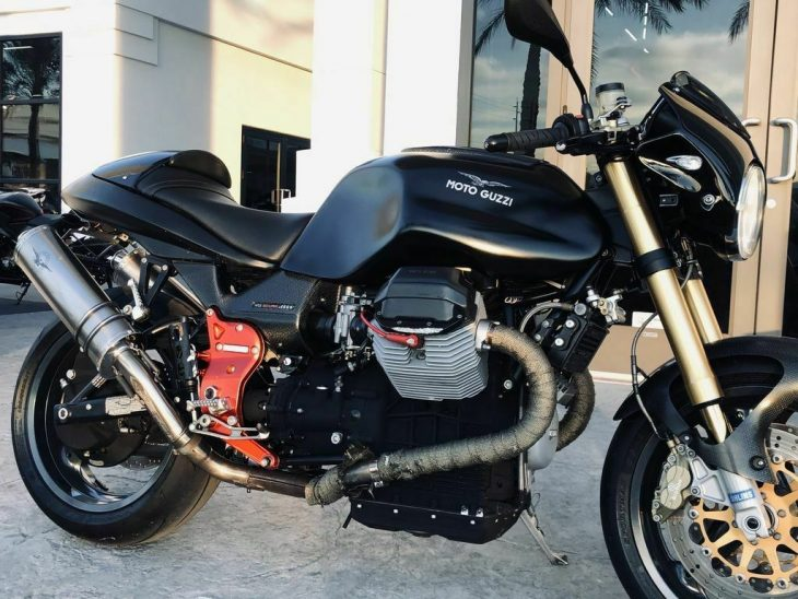 None More Black: 2002 Moto Guzzi V11 Scura Sport for Sale