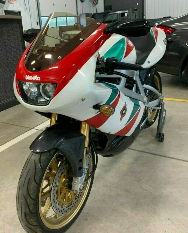 All Red and Green ( and White ) – 2000 Bimota BD4