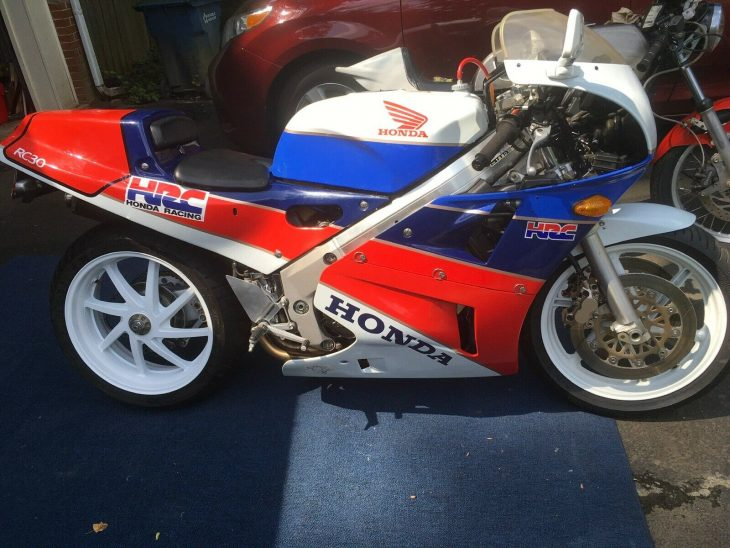 1990 Honda RC30 with only 2,048 miles!